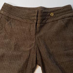 BEBE🔮Wool Blend Herringbone Wide Leg Pants size 8